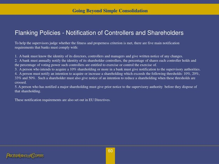 Going Beyond Simple Consolidation