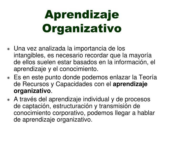 Aprendizaje Organizativo