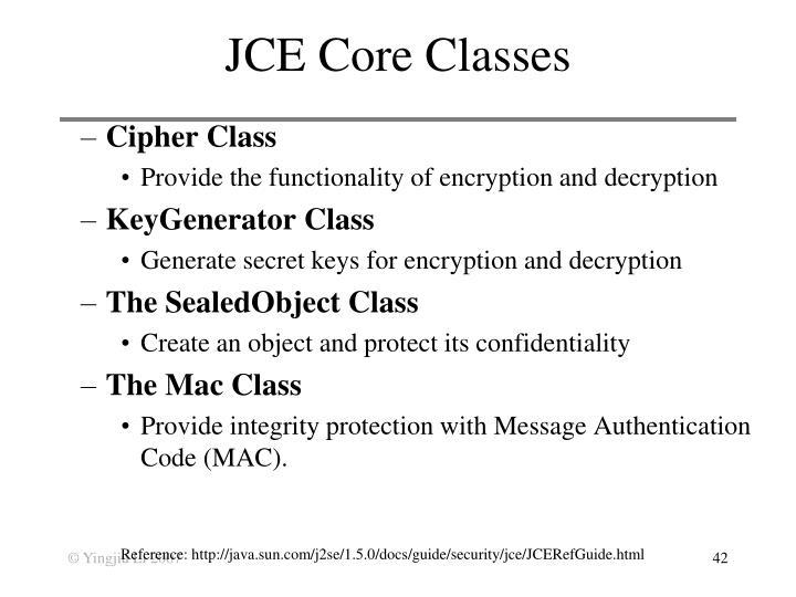 JCE Core Classes