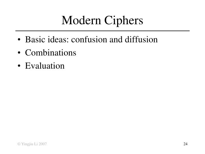 Modern Ciphers