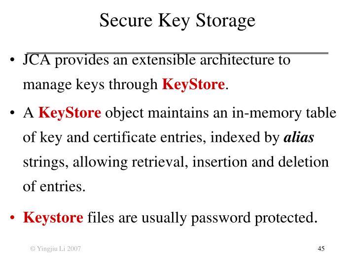 Secure Key Storage