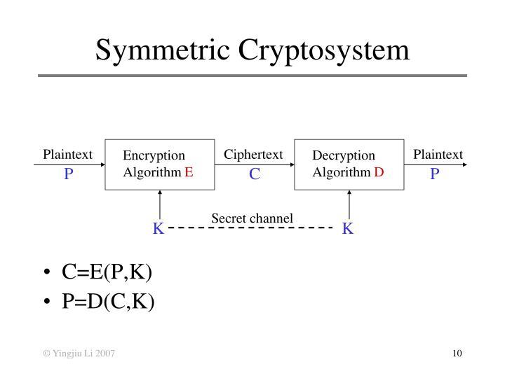 Symmetric Cryptosystem