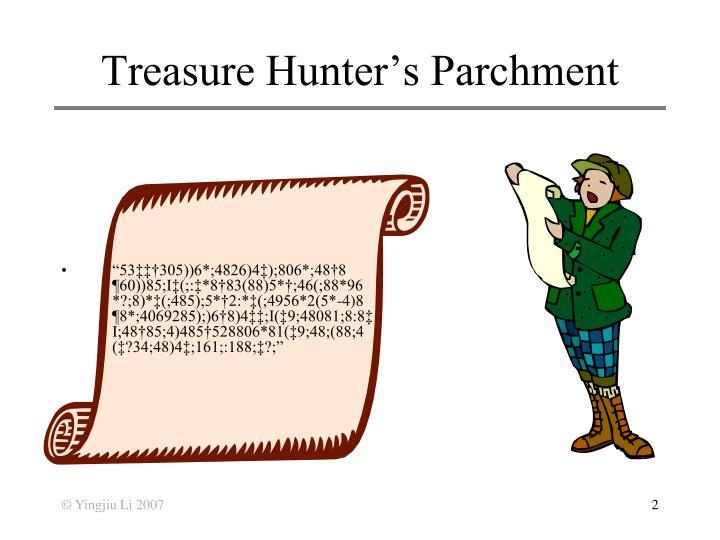 Treasure hunter s parchment