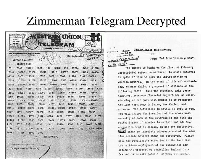 Zimmerman Telegram Decrypted