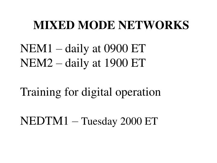 MIXED MODE NETWORKS
