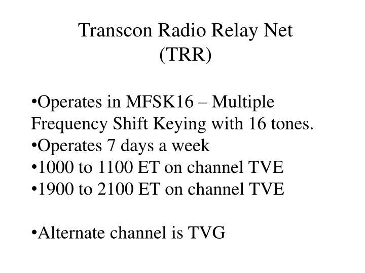 Transcon Radio Relay Net