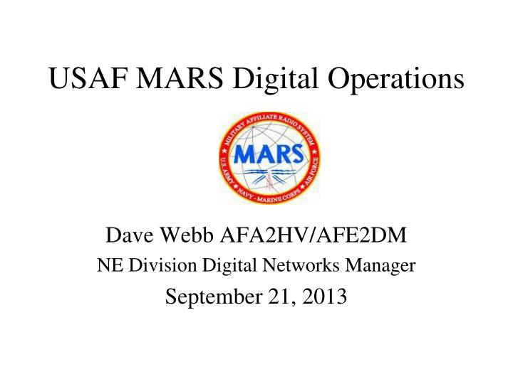 Usaf mars digital operations