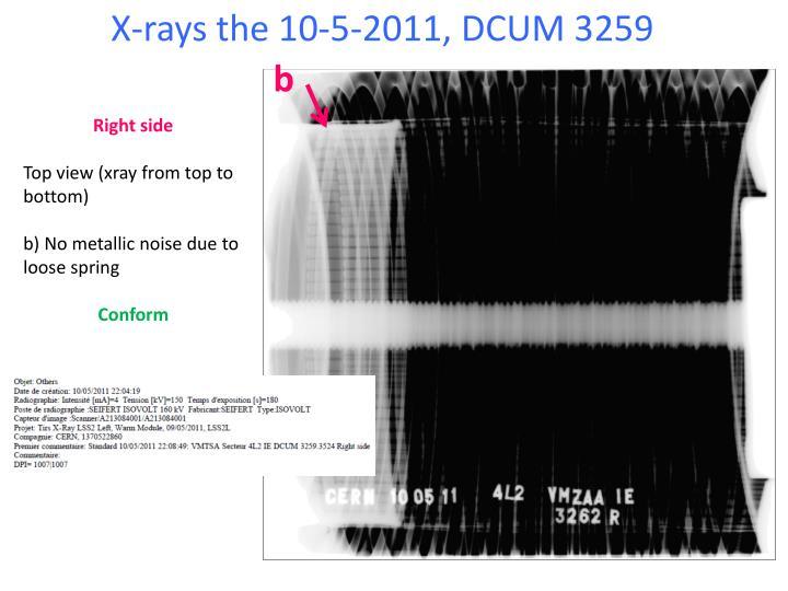 X-rays the 10-5-2011, DCUM 3259
