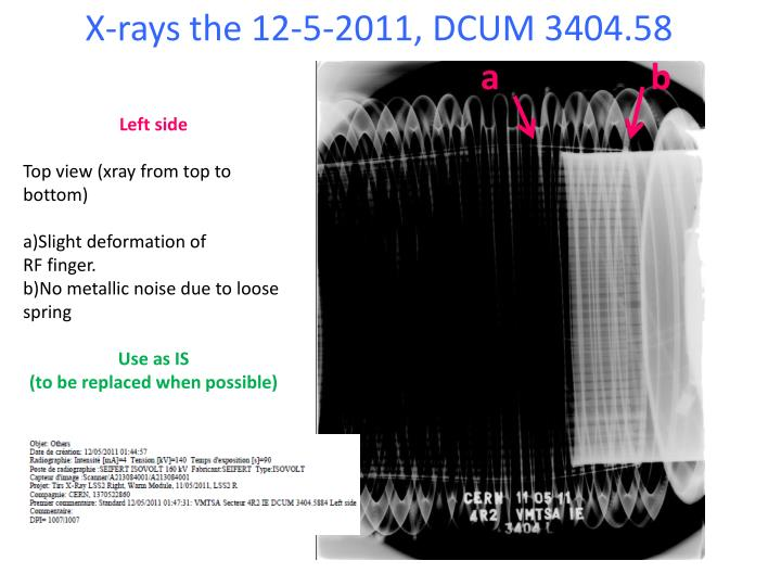 X-rays the 12-5-2011, DCUM 3404.58