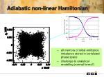 adiabatic non linear hamiltonian