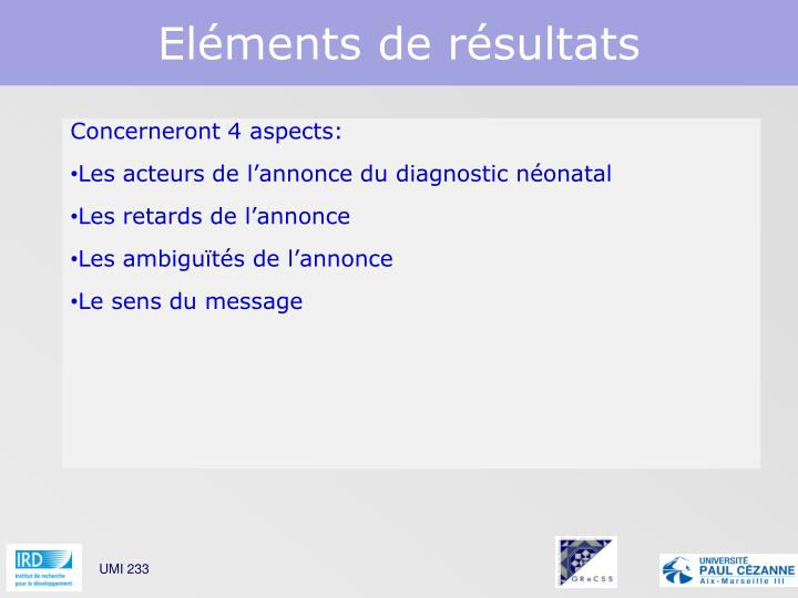 Concerneront 4 aspects: