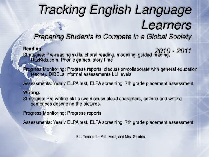 Tracking English Language Learners