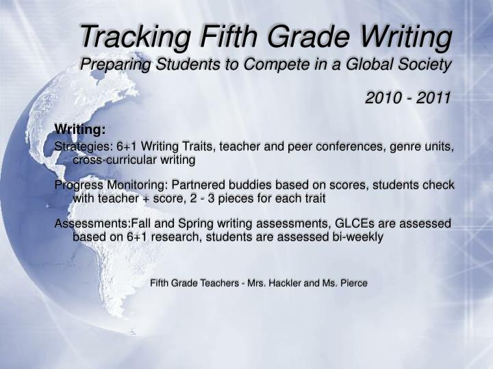 Tracking Fifth Grade Writing