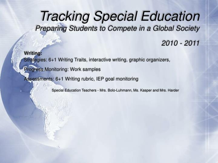 Tracking Special Education