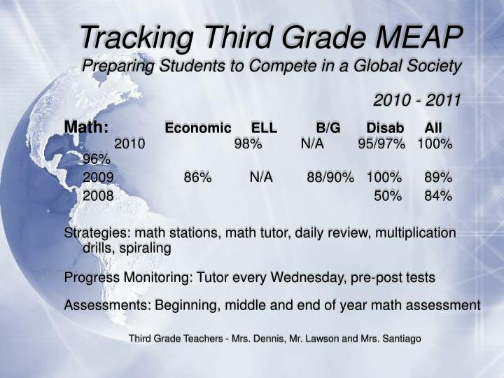 Tracking Third Grade MEAP