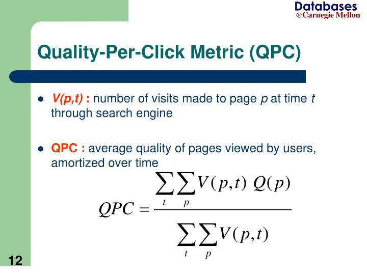 Quality-Per-Click Metric (QPC)
