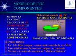modelo de dos componentes