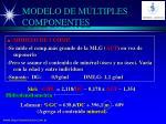 modelo de m ltiples componentes1