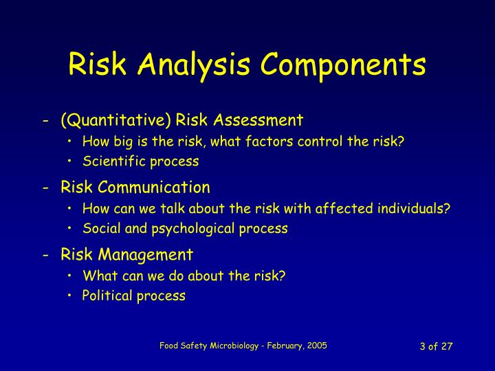 Risk analysis components