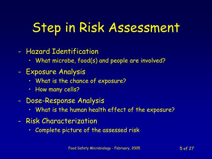 Step in Risk Assessment