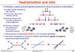 hadronisation and jets
