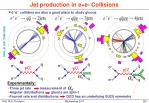 jet production in e e collisions