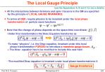 the local gauge principle