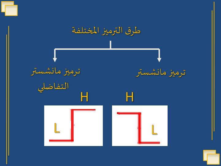 طرق الترميز المختلفة