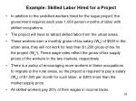 example skilled labor hired for a project