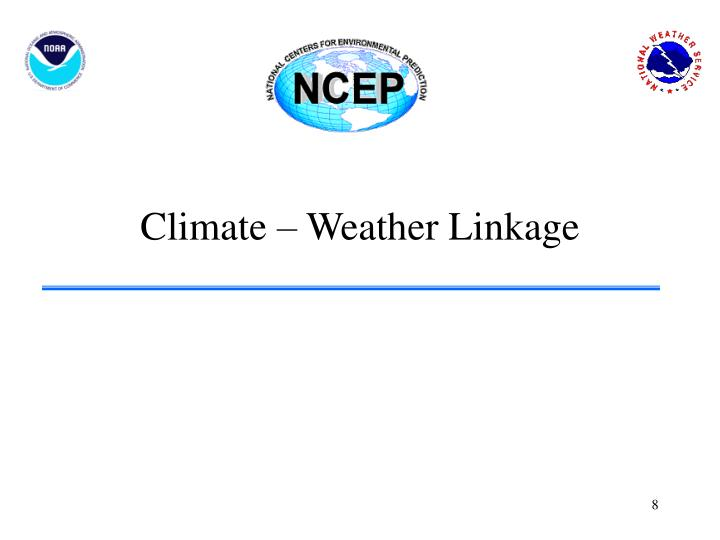 Climate – Weather Linkage