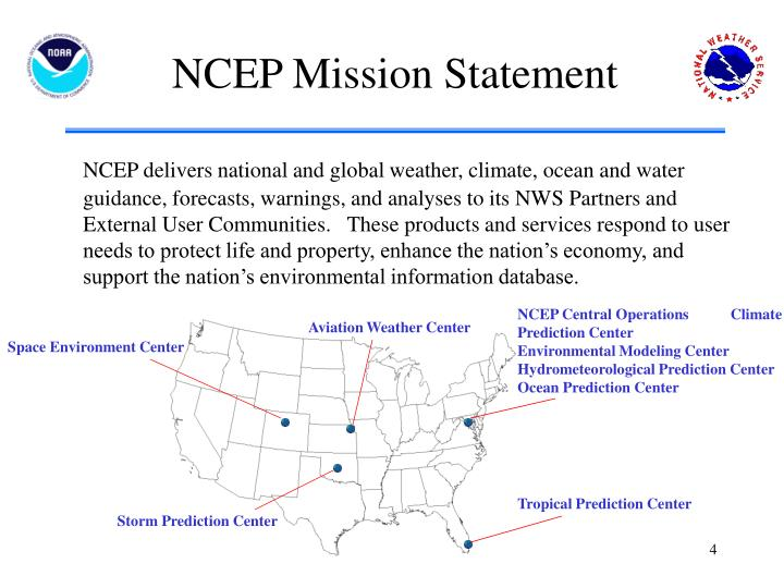 NCEP Mission Statement