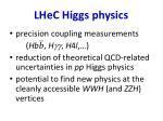 lhec higgs physics