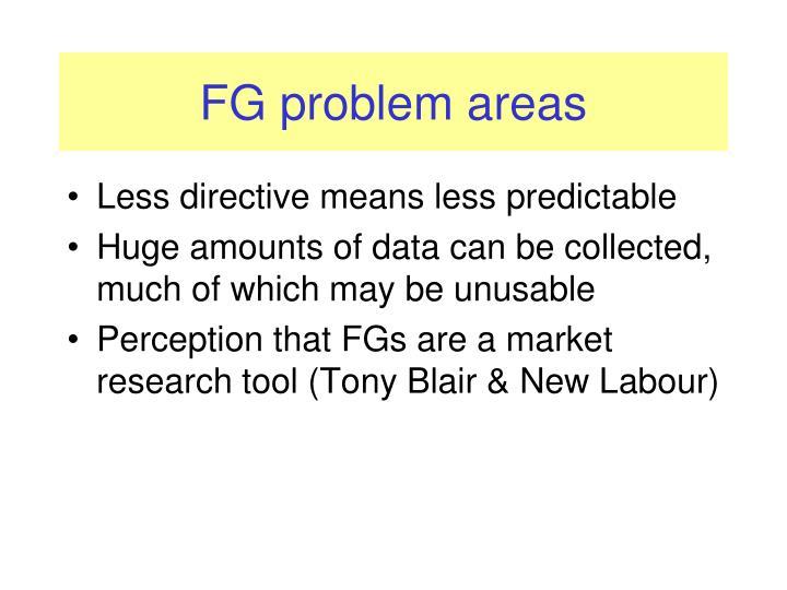 FG problem areas