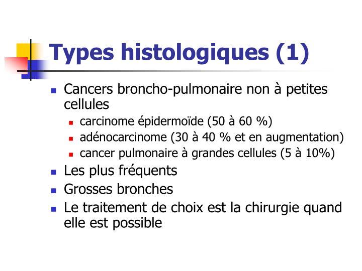 Types histologiques (1)