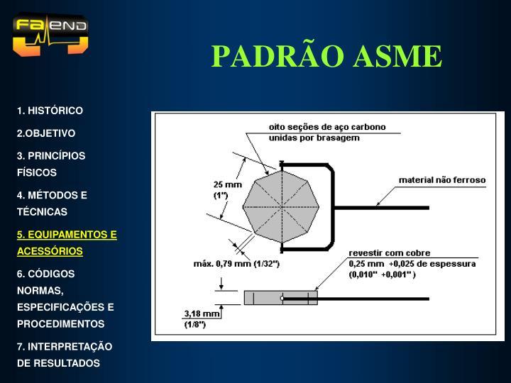 PADRÃO ASME