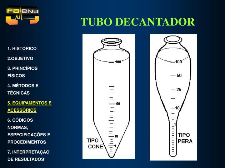 TUBO DECANTADOR