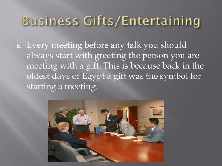 Business Gifts/Entertaining