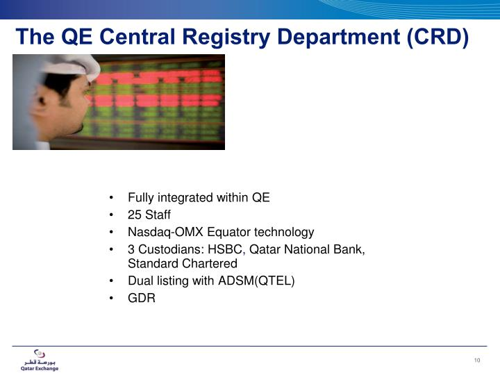 The QE Central Registry Department (CRD)