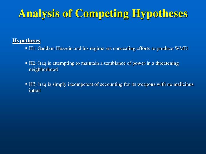 Analysis of Competing Hypotheses