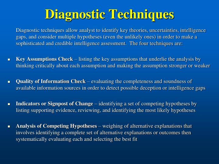 Diagnostic techniques