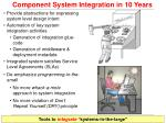 component system integration in 10 years