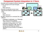 component system integration in 3 years