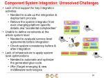 component system integration unresolved challenges1