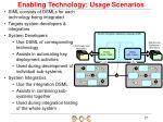 enabling technology usage scenarios