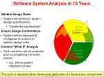 software system analysis in 10 years