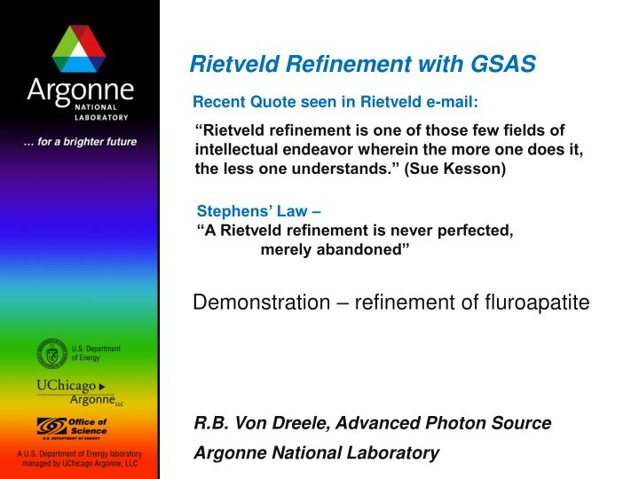 rietveld refinement with gsas n.