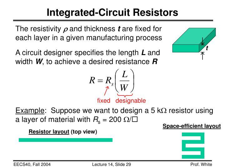 Integrated-Circuit Resistors