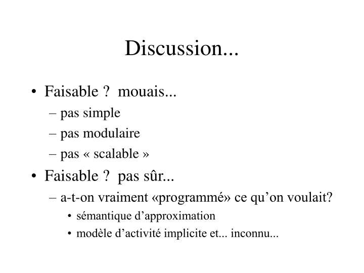 Discussion...