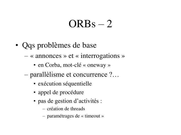ORBs – 2