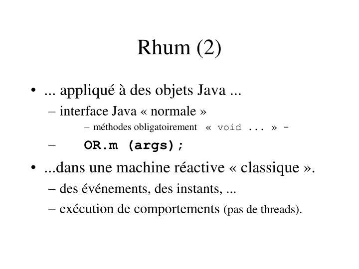 Rhum (2)
